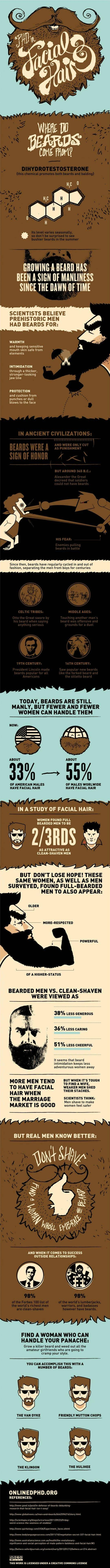 infographic about beards